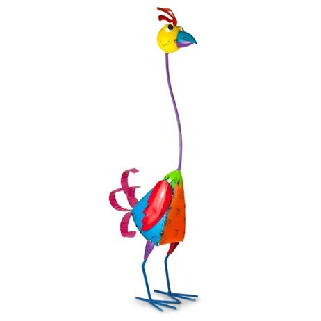 Fountasia Metal Planter - Tall Tina (Bird) (68208)