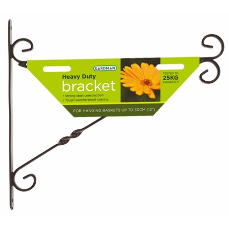 Gardman Heavy Duty Hanging Basket Bracket - 40cm (16inch) (03069)