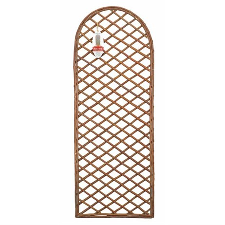 Gardman Framed Willow Trellis Panel with Curved Top - 1.8m x 0.6m (07524)