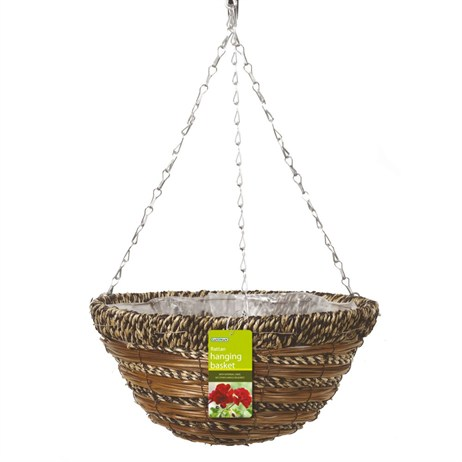 Gardman Sisal Rope and Fern Hanging Basket - 35cm (14inch) (02770)