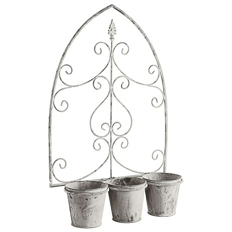Gardman Loire Triple Pot Wall Planter (00515)
