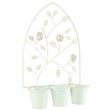 Gardman English Rose Triple Pot Wall Planter (00345)