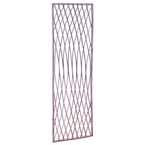 Gardman Framed Willow Lattice Trellis Panel with Square Top - 1.2m x 0.45m (07519)