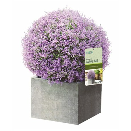 Gardman 30cm Topiary Ball Purple Heather Effect (02810)