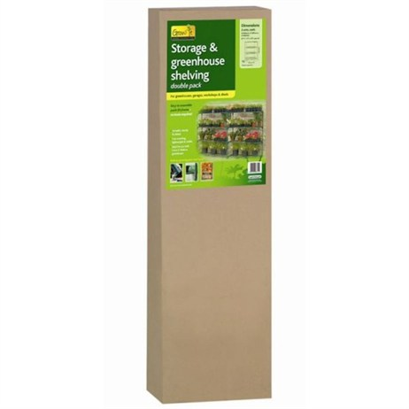 Gardman Greenhouse Storage and Shelving Double Pack (08751)