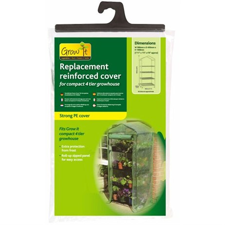 Gardman Replacement Reinforced Cover for Compact 4 Tier Growhouse (08754)