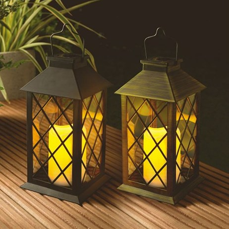 Gardman Solar Traditional Candle Lantern (18531)