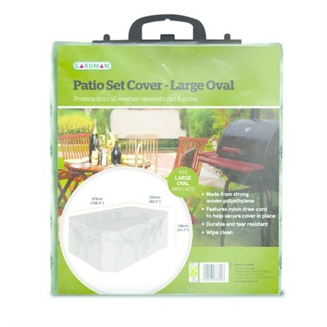 Gardman Standard Large Oval Patio Set Cover (32222)