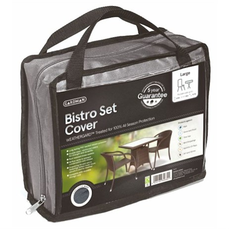 Gardman Premium Square Bistro Set Cover - Grey (35925)