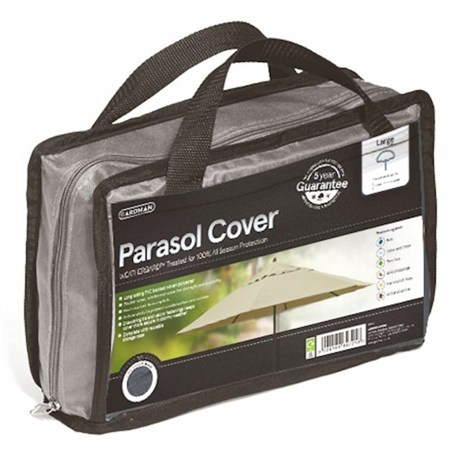 Gardman Premium Large Parasol Cover - Grey (35990)