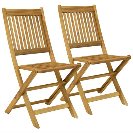 Charles Bentley Garden Pair of Wooden Outdoor Foldable Chairs (GL/GF/CHAIR.01) DIRECT DISPATCH