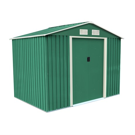 Charles Bentley Garden 8ft x 6ft Metal Shed (GL/MT/SHED.02) DIRECT DISPATCH