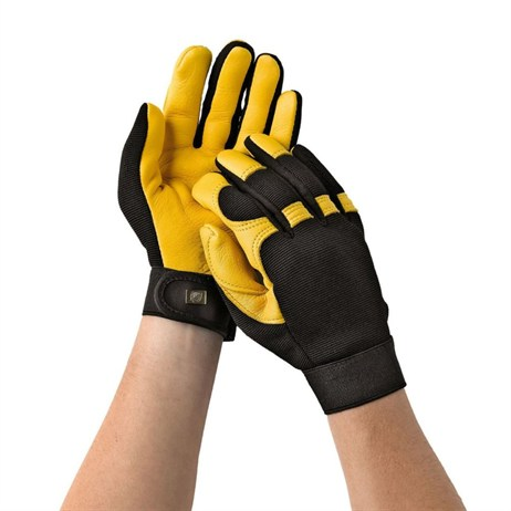 Gold Leaf Soft Touch Gloves Mens