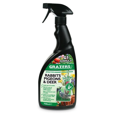 Grazers G1 Rabbits, Pigeons and Deer Repellent 750ml Ready-to-Use Spray