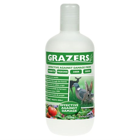 Grazers G1 Rabbits, Pigeons and Deer Repellent 375ml Concentrate