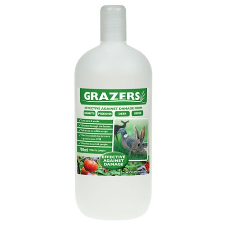 Grazers G1 Rabbits, Pigeons and Deer Repellent 750ml Concentrate
