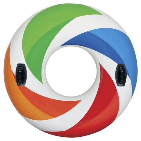Intex Rubber Ring - Colour Whirl Swimming Pool Tube (58202EU)