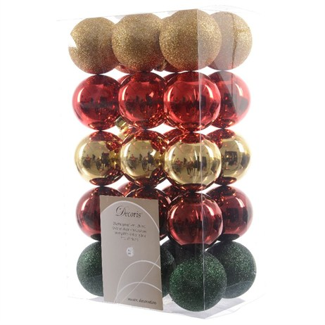 Kaemingk Box of Shatterproof 60mm Baubles - Classic (020092)