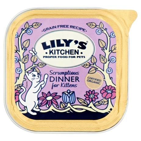 Lily's Kitchen Scrumptious Dinner for Kittens Wet Cat Food Tray 100g