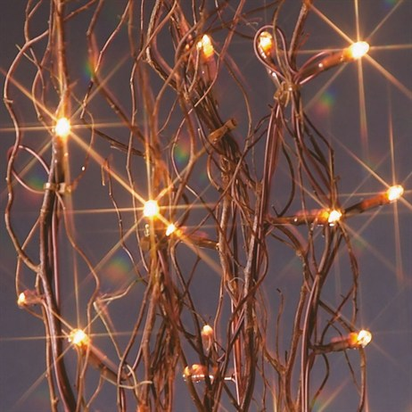 Premier 1.2m Dark Brown Twig with 80 Clear Rice Lights (LV081486) Christmas Lights