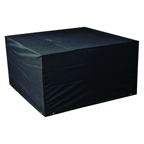 Bosmere 6 Seater Rectangular Cube Set Cover - Black (M660)