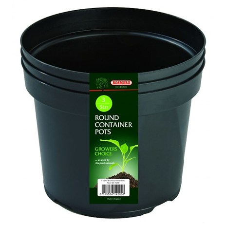 Bosmere Round Container Pot (3) 5L (N200)