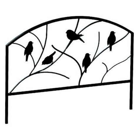 Panacea Perching Birds Garden Edge - Black (84565)
