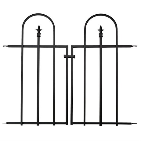 Panacea Gate for Triple Arch Finial Fence - Black (87501)