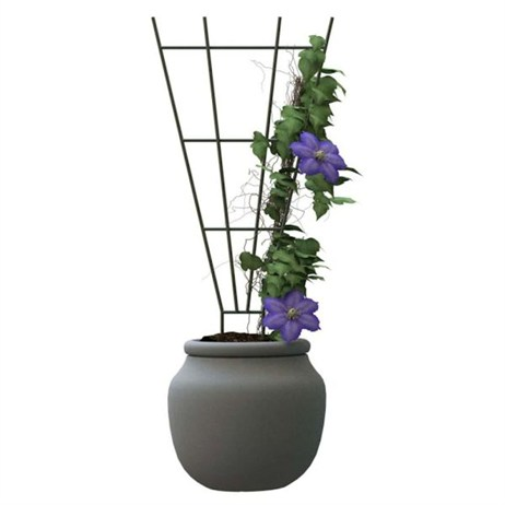 Panacea Fan Pot Trellis - Green (89635)