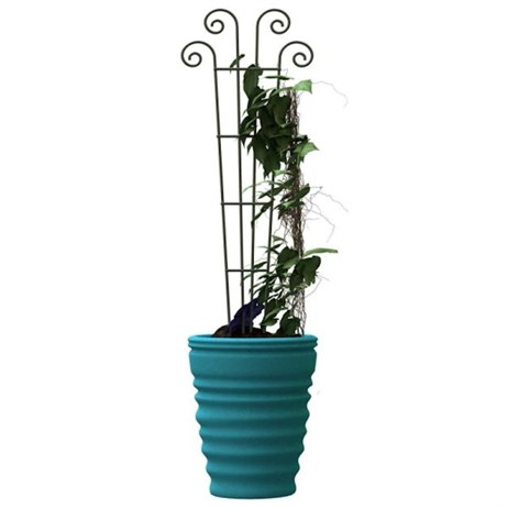 Panacea Wave Pot Trellis - Green (89636)