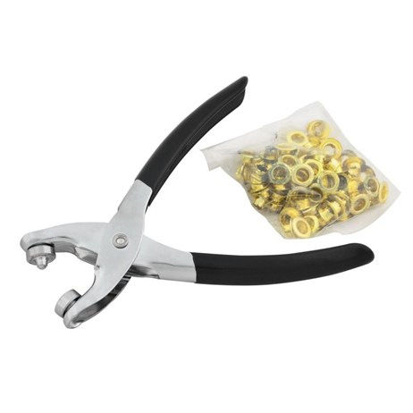 Rolson Eyelet Pliers and 100 Eyelets (20844)
