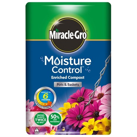 Scotts Miracle-Gro® Moisture Control™ Enriched Compost Pots and Baskets 50L (017668)