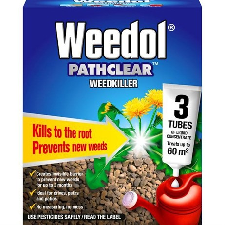 Weedol Weedkiller Pathclear (3 Liquid Concentrate Tubes) (011004)