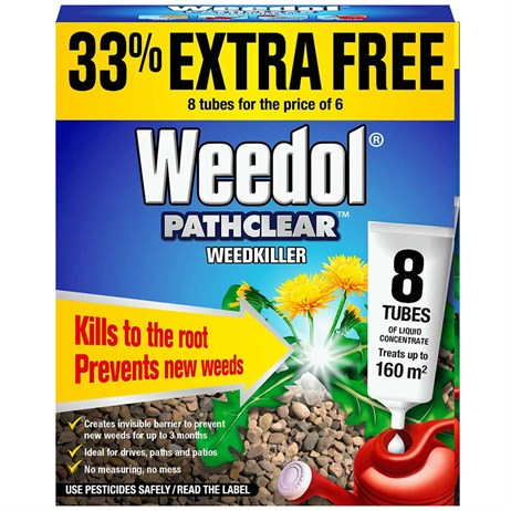 Weedol Weedkiller Pathclear (6+2 Liquid Concentrate Tubes) (011005)