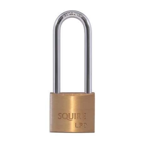 Squire 40mm Leopard Brass Long Shackle Double Locking Padlock (LP9-2.5)