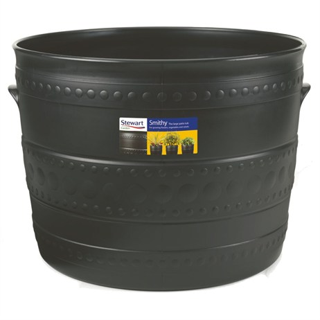 Stewart Garden Patio Tub - 35cm - Gun Metal (2558036)