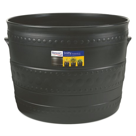 Stewart Garden Patio Tub - 50cm - Gun Metal (2559036)