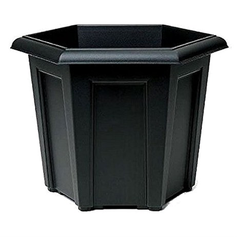 Stewart Garden Regency Hexagonal Planter - 40cm - Black (9300005)