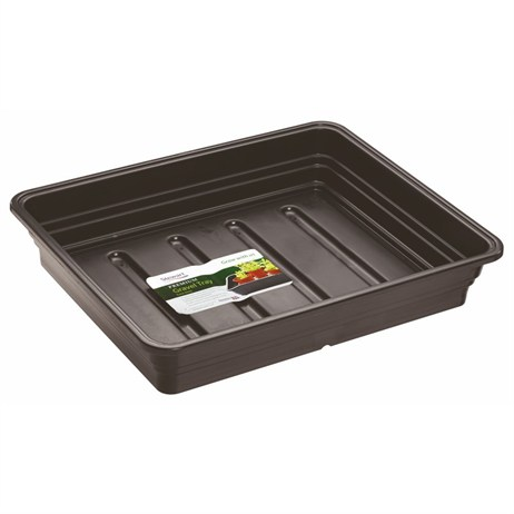 Stewart Garden Premium Extra Deep Gravel Tray without Holes - 22cm - Black (2332005)