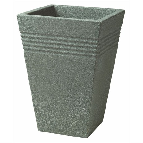 Stewart Garden Square Piazza Tall Planter - 35cm - Marble Green (5043063)