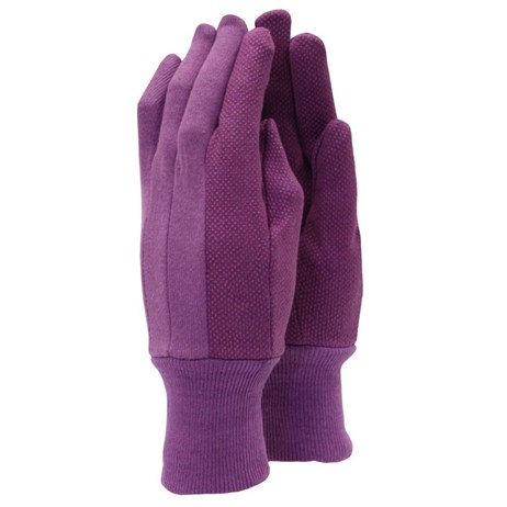 Town and Country Ladies Original Jersey Grip Gloves - Aubergine (TGL101)