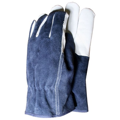 Town and Country Mens Deluxe Premium Leather and Suede Gloves - Large (TGL418L)