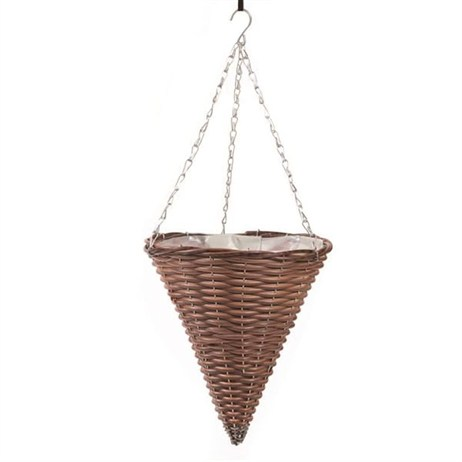 Triflora Brown 14inch Hanging Basket Cone (BW00036)
