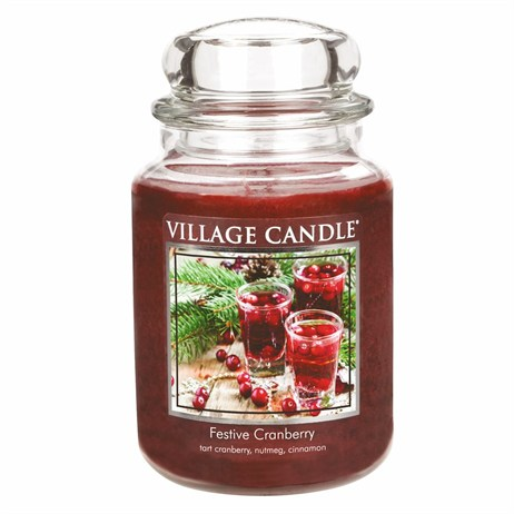 Village Candles - Festive Cranberry Premuim 26oz Christmas Candle (106326840)