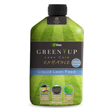Vitax Green Up Lawn Care Enhance Liquid Lawn Feed 200 sqm (5GEL3)