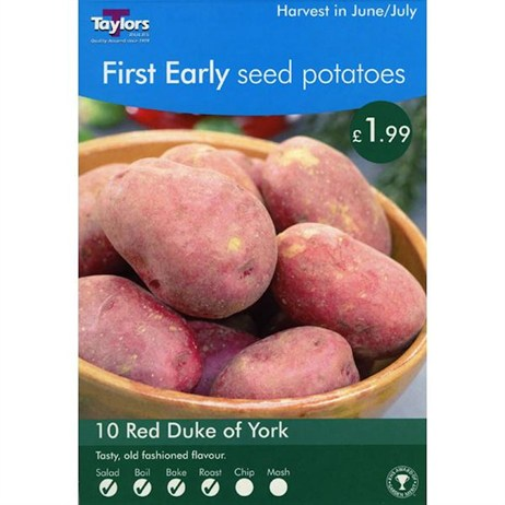 Taylors Bulbs Seed Potatoes Red Duke Of York (10 Pack) (VP422)