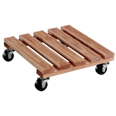 Wagner Toscana 300 x 300mm Square Pine Plant Trolley (20015301)