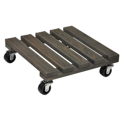 Wagner Vintage 300 x 300mm Square Pine Plant Trolley (20085401)
