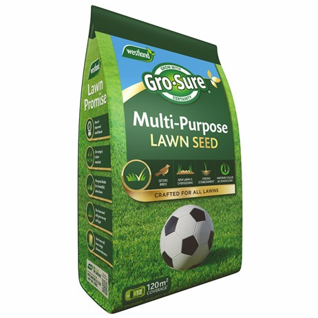 Westland Gro-Sure Multi Purpose Lawn Seed Pouch Bag 120m2 (20500174)