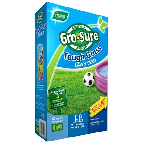 Gro-Sure Tough Grass Lawn Seed - 15 sq.m - 450g (20500183)